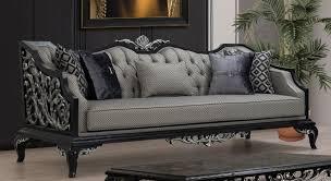 casa padrino luxus barock sofa silber schwarz wohnzimmer sofa im barockstil barock wohnzimmer möbel edel prunkvoll