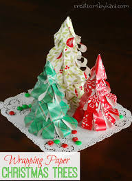 Saran Wrap Christmas Tree With Ornaments by How To Make Wrapping Paper Christmas Trees