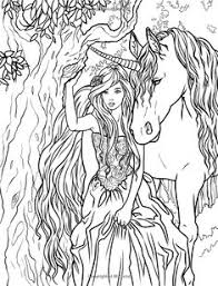Artist Selina Fenech Fantasy Myth Mythical Mystical Legend Elf Elves Dragon Dragons Fairy Fae Wings Fairies Unicorn Coloring PagesHorse
