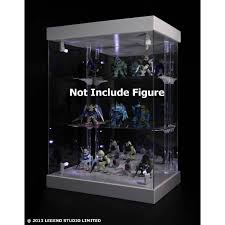Master Light House Acrylic Display Case With Lighting White