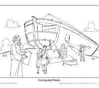 Noahs Ark Printable Coloring Sheet