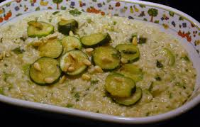 Pumpkin Risotto Recipe Nz by Courgette Risotto With Pesto And Pine Nuts Recipe All Recipes Uk