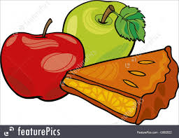 Desserts Illustration of apples and apple pie