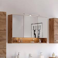 badezimmer 3d spiegelschrank in holz nachbildung lemnas