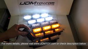 Super Bright 54-LED Emergency Vehicle Strobe Lights (Amber/White ...