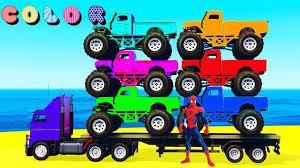 100 Spiderman Monster Truck MONSTER TRUCK Transportation In Kids Cars Cartoon And