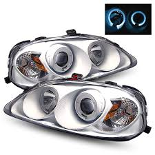 99 00 honda civic halo projector headlights jdm white