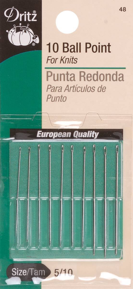 Dritz Ball Point Hand Needles - Size 5/10, 10ct