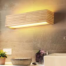 dx moderne holz wand leuchten badezimmer spiegel le flur wandl bett licht nordic hause beleuchtung leuchte vintage wand le