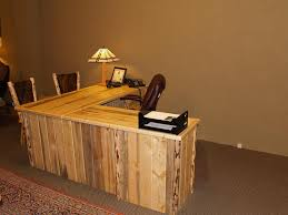 Image Of Custom Style Rustic L Shaped Desk
