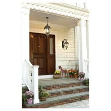 front door wall lights with hanging light centered lighting