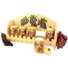 Candle Holder Set Grape Tuscany Wine Kitchen Decor
