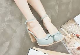 Shoes Light Blue Bow Vintage Pastel Cute Summer High Heels