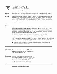 Cna Resume For Hospital Awesome 32 Sample Templates Of