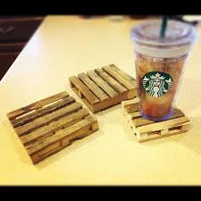 These Would Be Great To Use On The Deck Where I Already Pallets Popsicle Sticks Hot Glue Gun Make Cute Little Mini Pallet Coasters