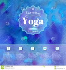 Name Of Yoga Studio On A Watercolors Background EPSJPG