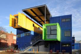 100 House Storage Containers Colorful Big Blue Green Yellow Shipping Containers House Design