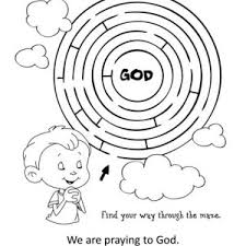 Lords Prayer And HE Will Listen Coloring Page