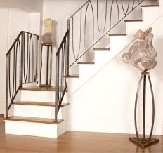 Hand Crafted Anahata Stair Railing By Eric David Laxman ... Cool Stair Railings Simple Image Of White Oak Treads With Banister Colors Railing Stairs And Kitchen Design Model Staircase Wrought Iron Remodel From Handrail The Home Eclectic Modern Spindles Lowes Straight Black Runner Combine Stunning Staircases 61 Styles Ideas And Solutions Diy Network 47 Decoholic Architecture Inspiring Handrails For Beautiful Balusters Design Electoral7com