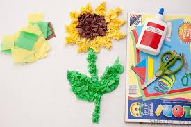 Pin Tissue Paper Sunflower Craft