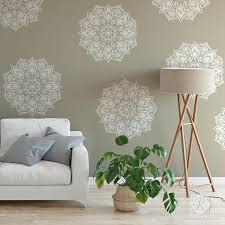 mandala wandmalerei schablone für boho chic schlafzimmer dekoration projekte große diy wall muster für böhmische interior design