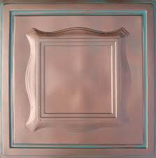 24x24 Pvc Ceiling Tiles by Beta Antique Copper Patina 24x24