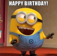 Two minions are wishing happy birthday in this below picture