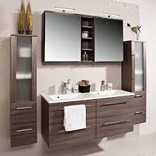 pharao24 badezimmermöbel set mit doppelwaschtisch eiche