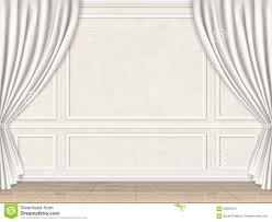 100 Decorated Wall Panel Mouldings And Curtains Stock Vector