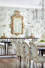 Gracie Wallpaper Chinoiserie Gilt Mirror Gold Dining Room Wall Paper