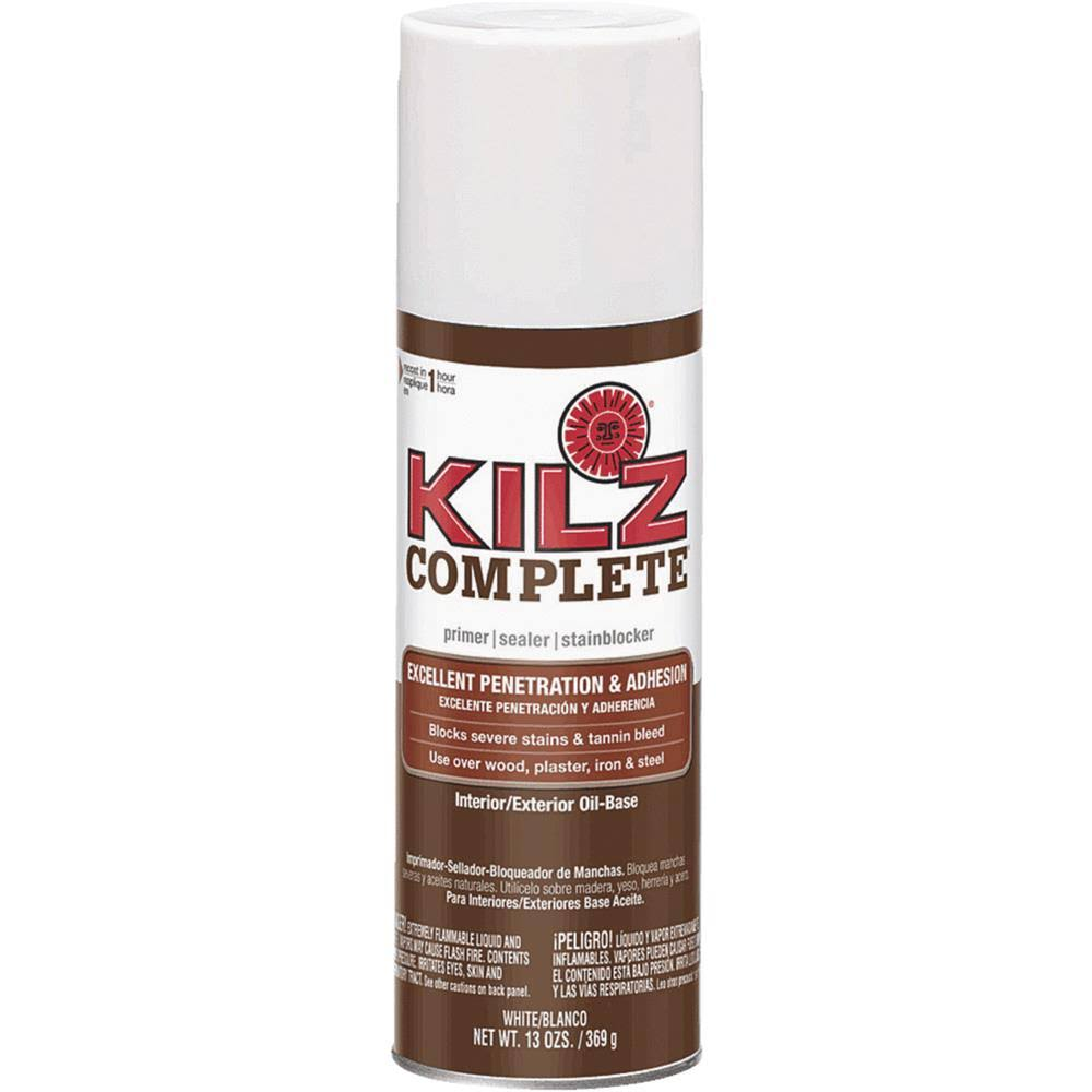 Kilz Complete Oil Based Interior Exterior Primer - White, 13oz