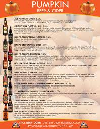 Ace Pumpkin Cider Gluten Free by Catalogs U0026 Sell Sheets 1 U2014 S K I Beer