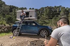 coffre toit de voiture mini countryman une tente en guise de coffre de toit