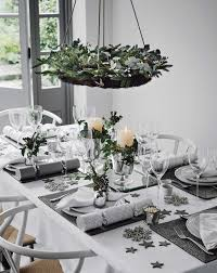 Dining Table Centerpiece Ideas For Christmas by Snowflakes And Baubles Tablescape Holiday Tablescape Holidays