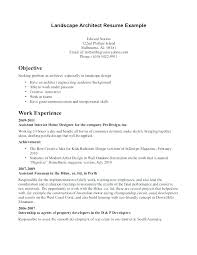 Landscaping Resume Examples Sample