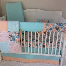 Teal And Coral Baby Bedding by Nursery Beddings Blue And Coral Paisley Bedding Also Grey Blue