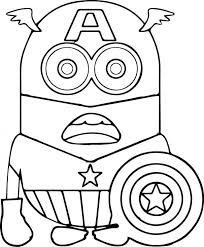 Printable Minion Birthday Coloring Pages Free Color Sheets Minions Captain Medium Size
