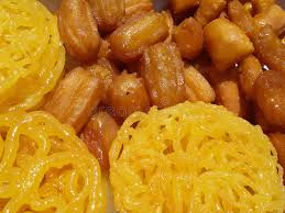 cuisine cooky zoolbia bamieh ramadan special cooky in stock photo image