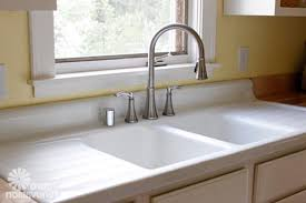 kitchen sinks drop in with drainboards triple bowl oval
