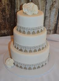Three Tier Fondant Wedding Cake Fake Faux