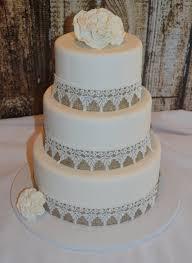 Three Tier Fondant Wedding Cake Fake Faux