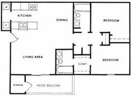 Plan B Two Bedroom Floorplan