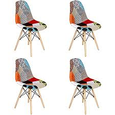 vadim 2x esszimmerstühle design patchwork retro stühle