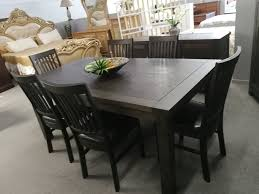 #Asten Dark-Color Dining Table With 6 Chairs