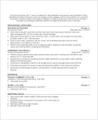 Free Sample Resume For Waitress Position Food Service Worker Restaurant Samples Manager Examples