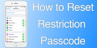 Reset Restriction Passcode iPhone Without Restore