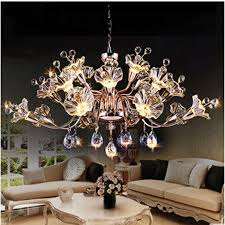 T Best Price Modern Lustre Flower Crystal Chandelier Fashion Dining Room Lamp Pandent Indoor LED Light For Bedroom In Pendant Lights From