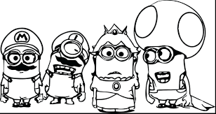 Minions Printable Colouring Sheets Minion Pictures Coloring Pages Despicable Me Full Size