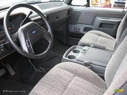 Gray Interior 1990 Ford Bronco Custom 4x4