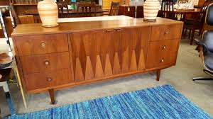 American Of Martinsville Dining Room Furniture by Mid Century Modern 9 Drawer Dresser With Diamond Accents By
